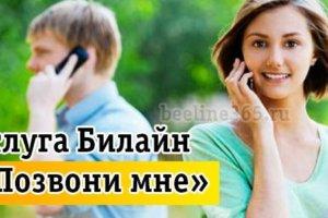 позвони мне билайн